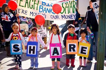 Kids Protesting on Bank Transfer Day